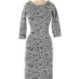 Shabby Apple Black & White Bodycon Dress, Size 2